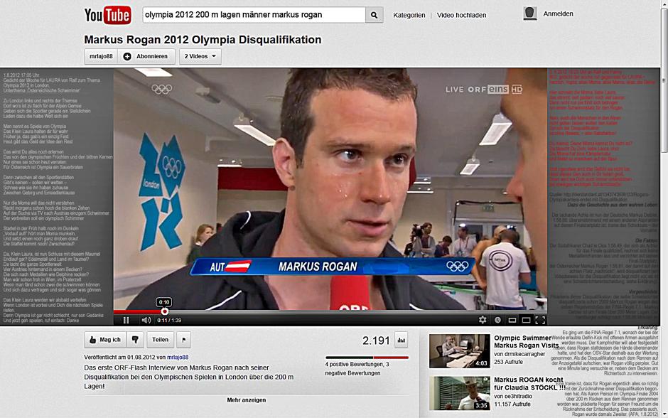 _20120801_Olympia 2012 - Markus Rogan 200-m-Lagen-Schwimmer disqualifiziert_Gedichte der Woche für Klein-Laura