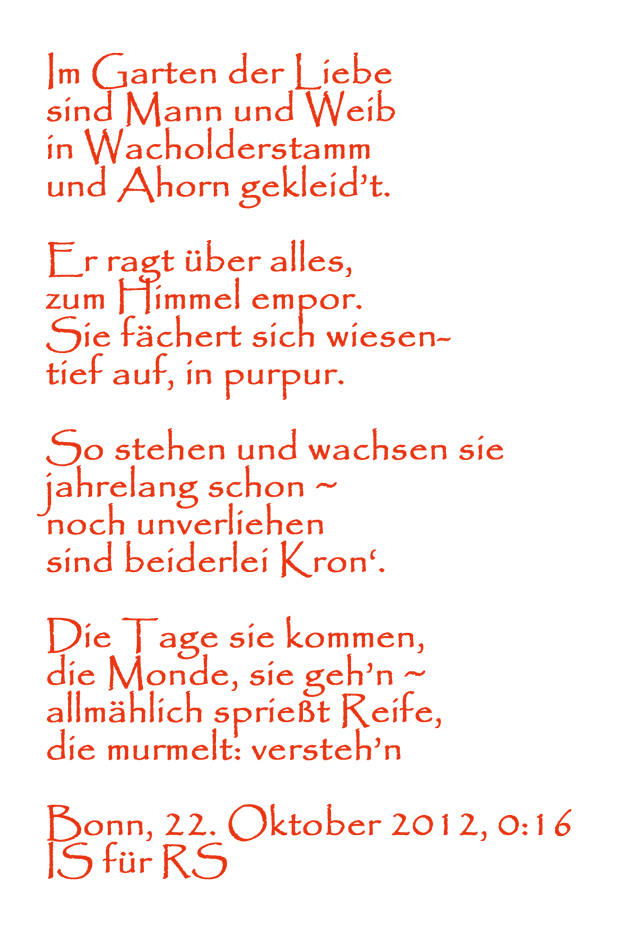Gedicht ahornbaum