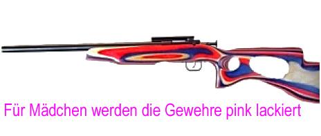 Kindergewehr_made in USA_für Mädchen werden sie in pink lackiert