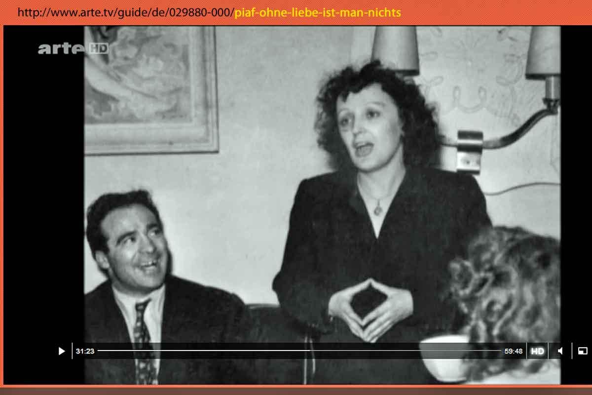 Edith Piaf - ohne Liebe ist man nichts