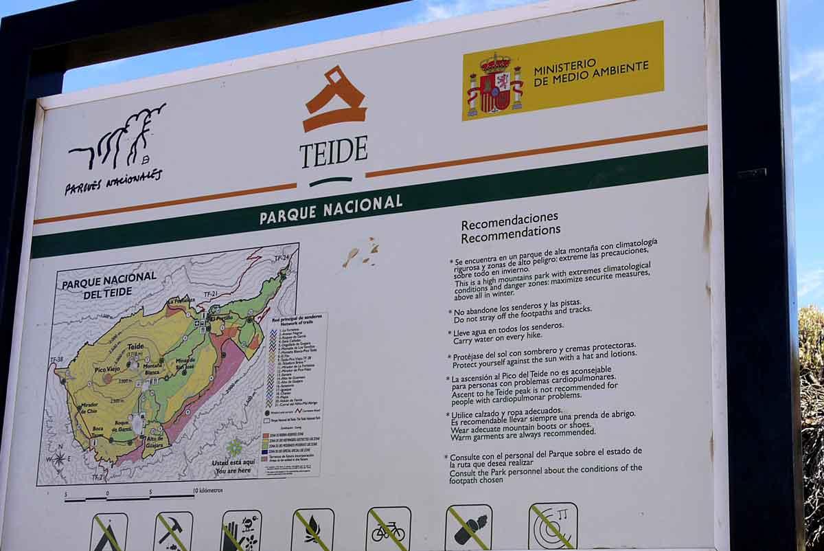 Wegweiser_Teide Parque Nacional