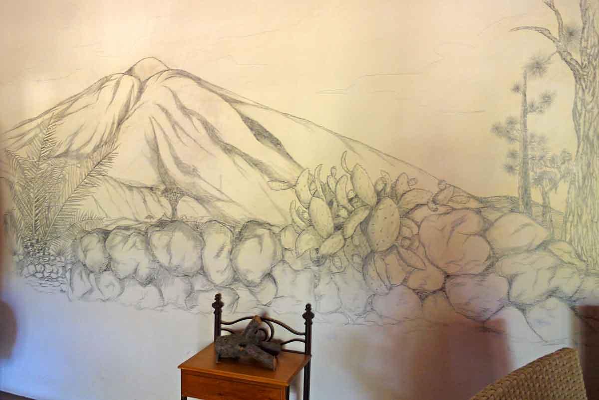Wandmalerei - altes Hotel La Casona del Patio_Santiage del Teide_7