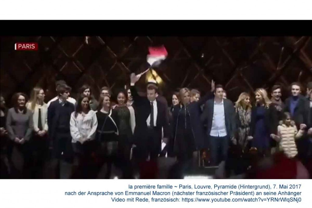 la première famille_Emmanuel Macron élu Président_20170507_Louvre, vor der Glaspyramide