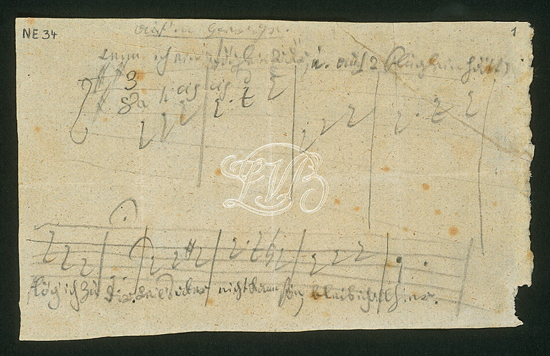 Beethoven WoO147_Ruf vom Berge_Autograph - Beethoven-Haus Bonn NE 376