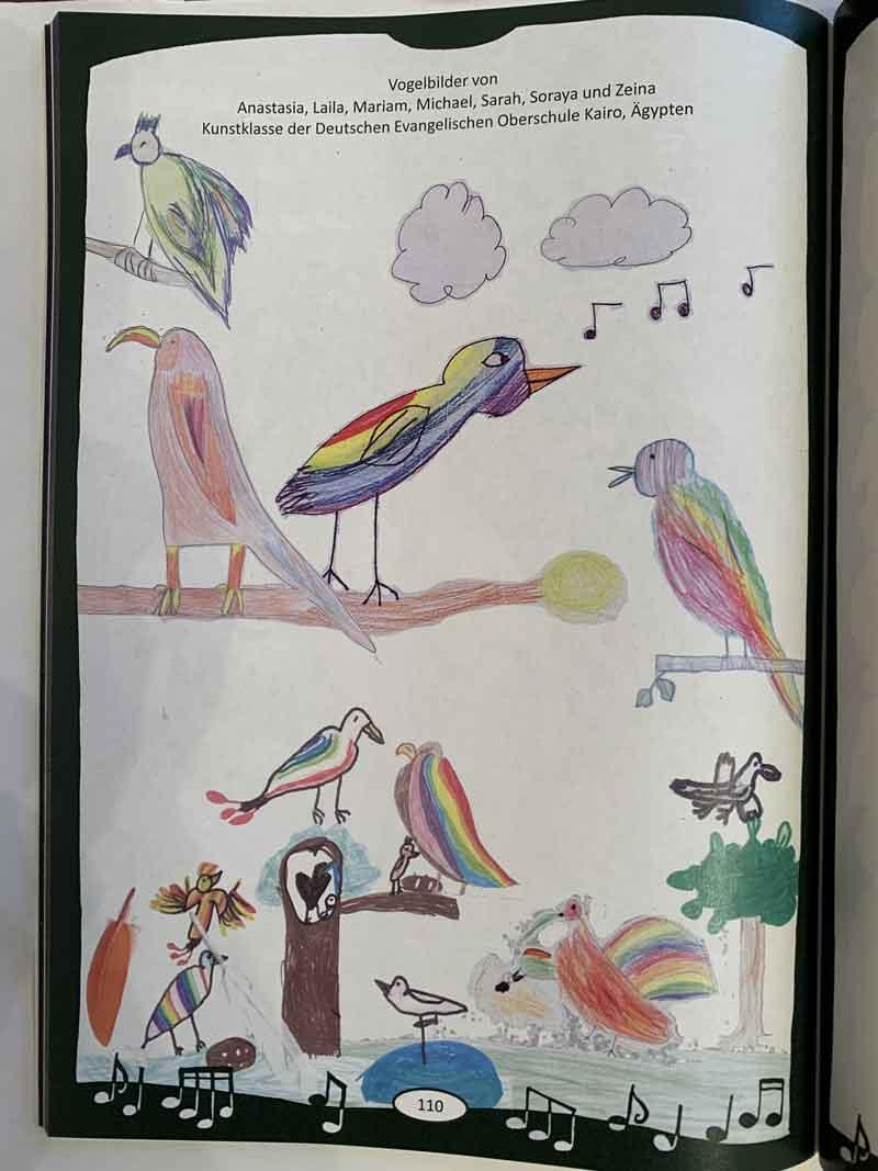 Vogelbilder_Kunstklasse 2-4 von Frau Eva Joelli_Kairo